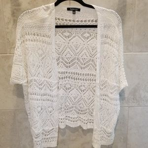 Relativity 1X white lace cover up